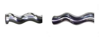 prima e dopo la lucidatura della cromatura a spessore